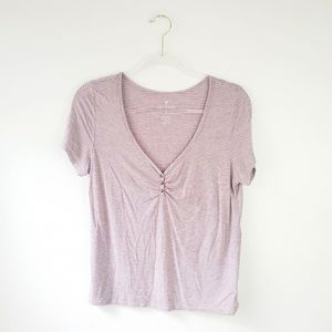 American Eagle Soft & Sexy Striped Short Sleeve